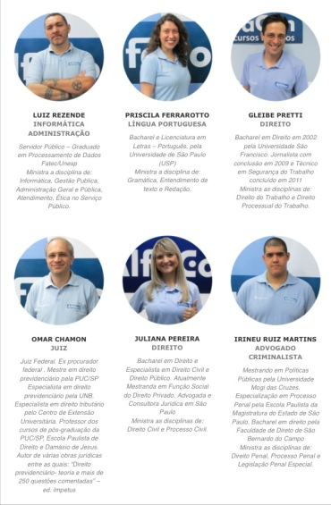 Parte da equipe de professores do AlfaCon SP